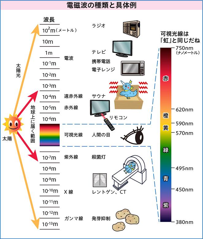 電磁波の種類と具体例